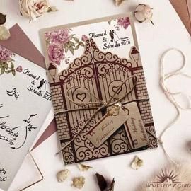 کارت عروسی مینیاتور کد M103