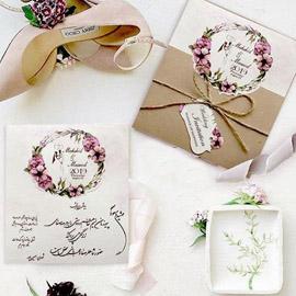 کارت عروسی مینیاتور کد M110