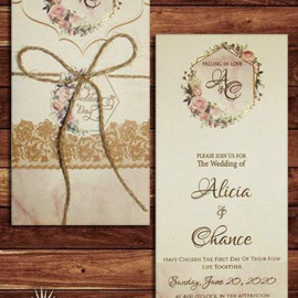 کارت عروسی کد m146